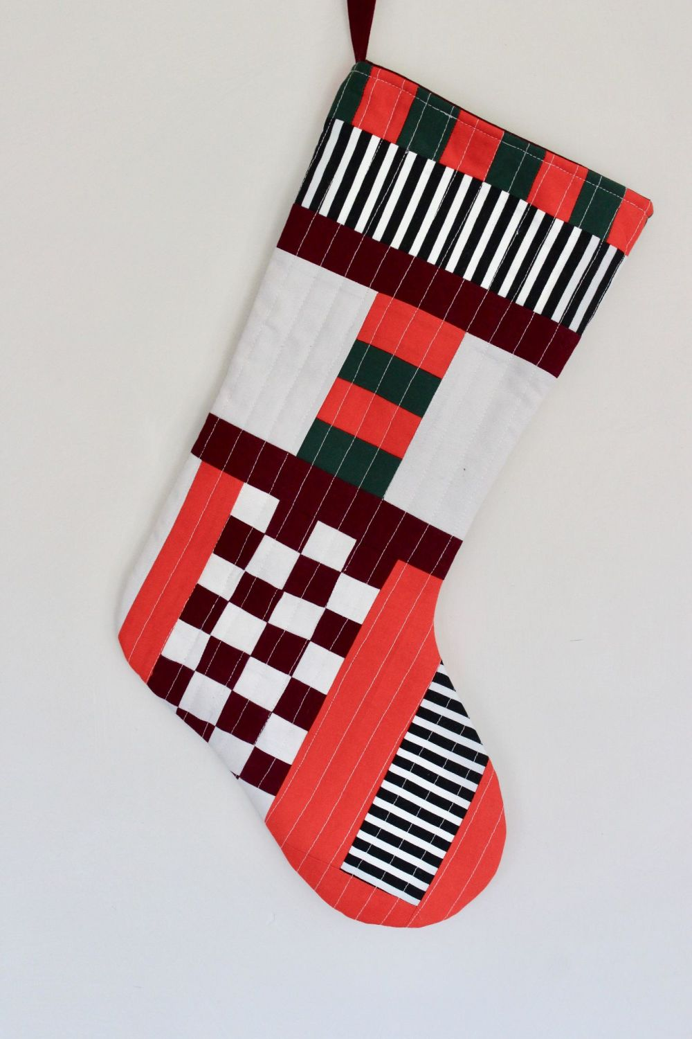 Patchwork Christmas Stocking(3)