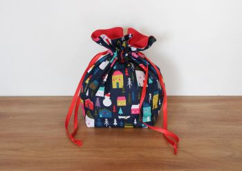 Christmas Drawstring Gift Bag - Merry and Bright(3)