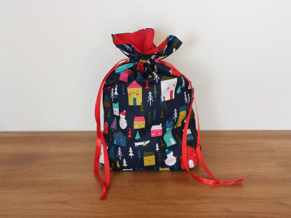 Christmas Drawstring Gift Bag - Merry and Bright(4)