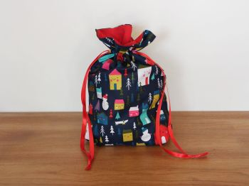 Christmas Drawstring Gift Bag - Merry and Bright(4)