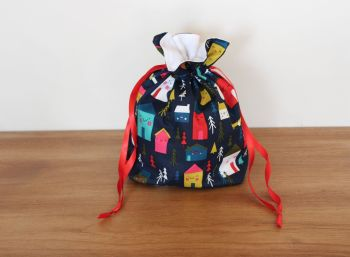 Christmas Drawstring Gift Bag - Merry and Bright(6)