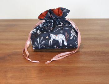 Christmas Drawstring Gift Bag - Winterfold Little Deer
