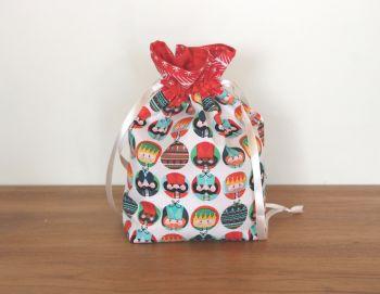 Christmas Drawstring Gift Bag - Nutcracker Christmas(1)