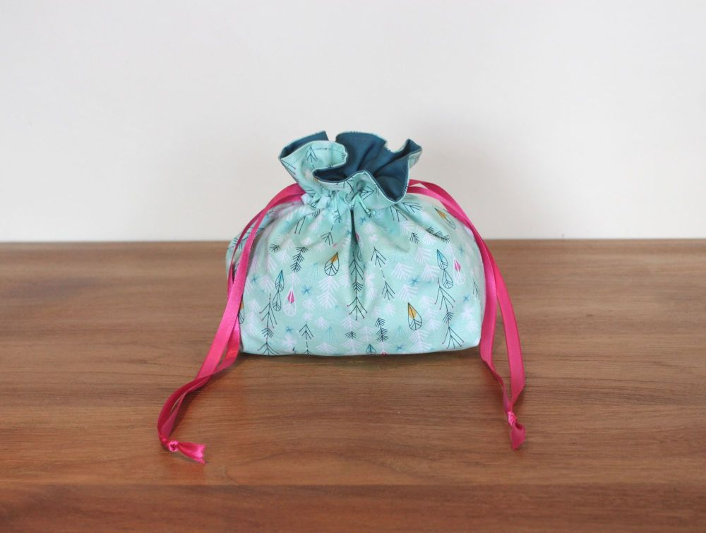 Flock  Drawstring Gift Bag(1)