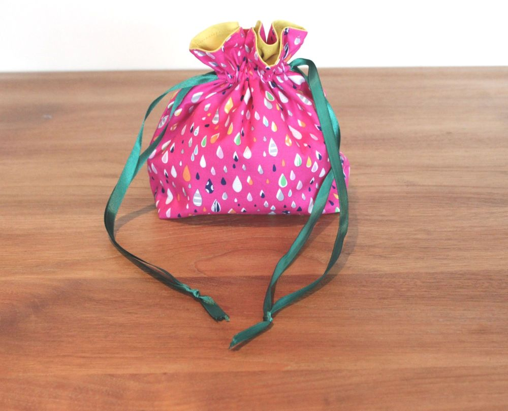 Walk In The Woods in Pink Drawstring Gift Bag(1)