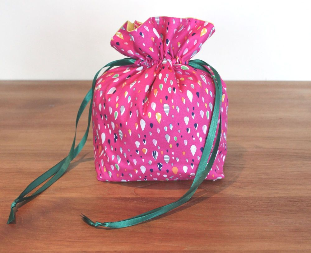 Walk In The Woods in Pink Drawstring Gift Bag(2)