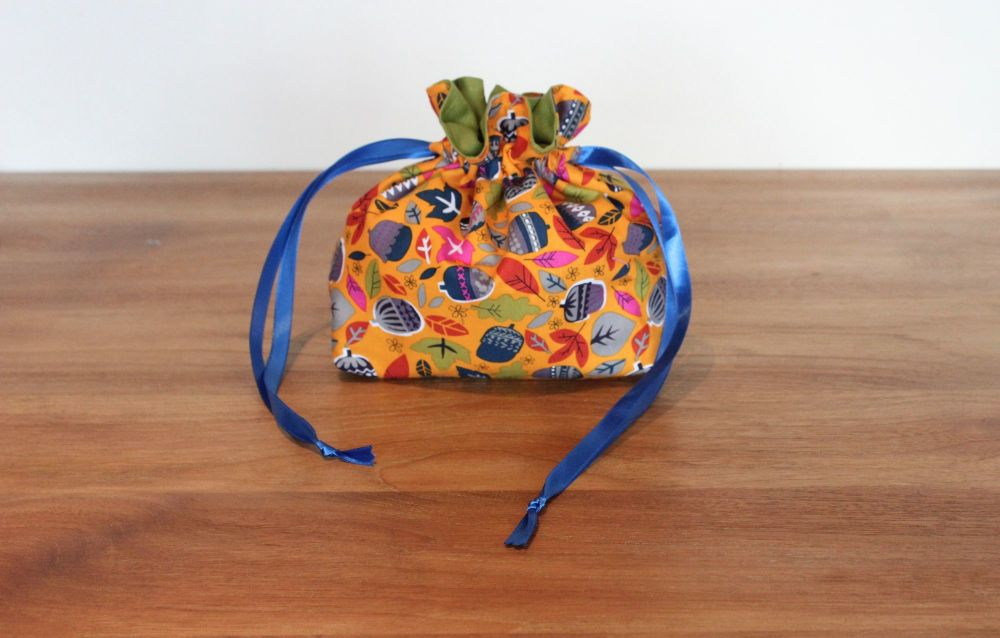 Walk In The Woods in Orange Drawstring Gift Bag(1)