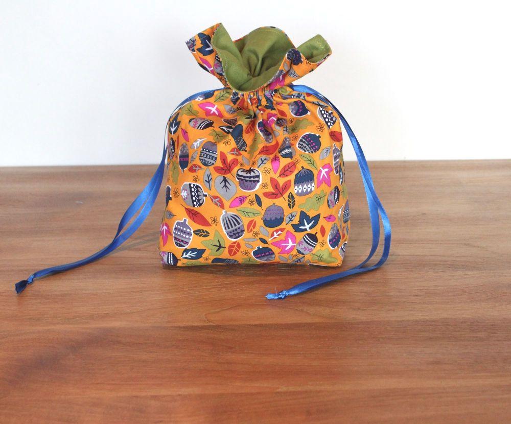 Walk In The Woods in Orange Drawstring Gift Bag(2)