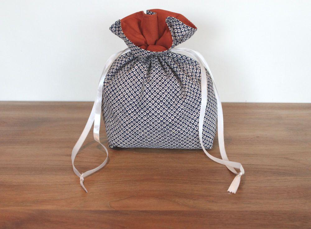 Kasuri Drawstring Gift Bag(2)