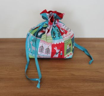 'Forest Friends' Christmas Drawstring Gift Bag(1)