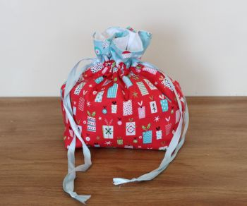 'Forest Friends' Christmas Drawstring Gift Bag(5)