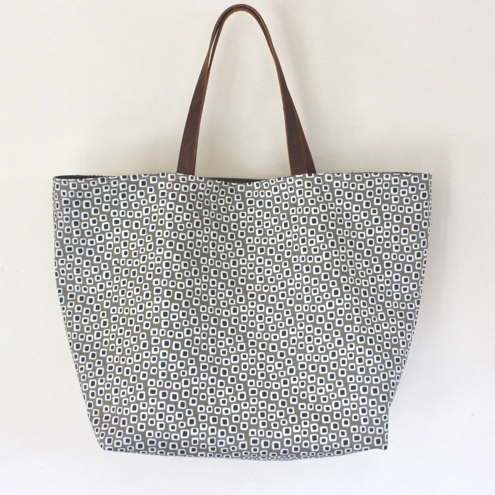Small Library Silver Tote Bag