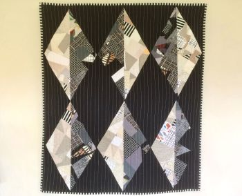 Monochrome Diamond Wall Hanging