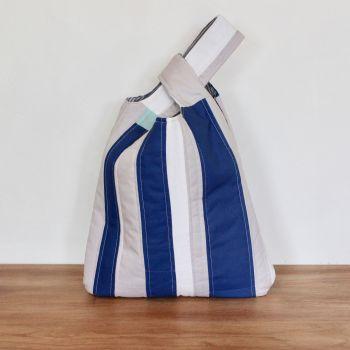Japanese Knot Bag(Medium) - Blues