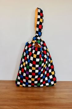 Japanese Knot Bag(Large) - Chequerboard