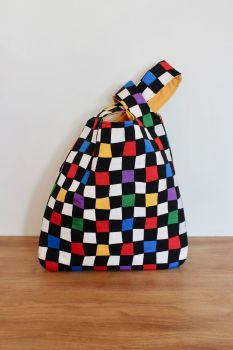 Japanese Knot Bag(Medium) - Chequerboard