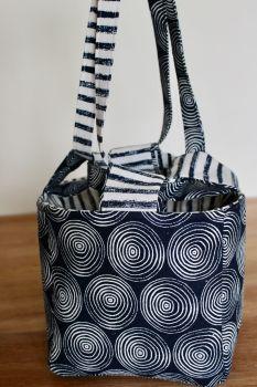 Japanese Rice Bag - Midnight Garden Swirls - Medium