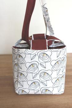 Japanese Rice Bag - Midnight Garden Rose - Medium