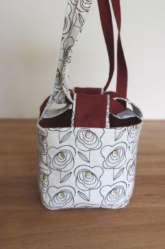 Japanese Rice Bag - Midnight Garden Rose (1)- Small