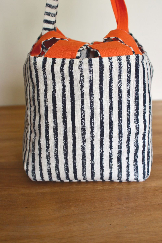 Japanese Rice Bag - Midnight Garden Stripes - Large