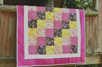 Good Vibes Patchwork Baby Quilt