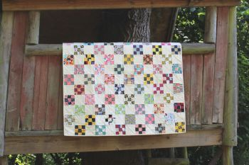 Scrappy Nine Patch Baby Quilt