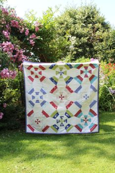 Blossom  Wheel Lap Quilt