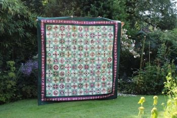 King Size Scrappy Nine Patch Heirloom Quilt