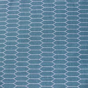 Fabric Freedom - 100% Cotton Cretonne - Karlstad - Teal