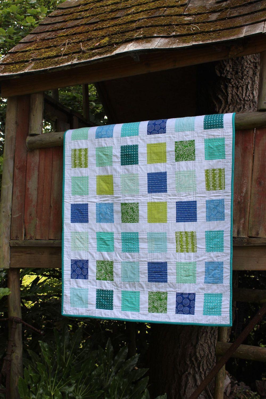 'Fresh' Baby Quilt - Robert Kaufman Blueberry Park