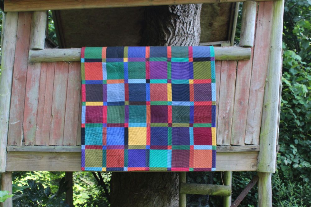 Dark Palette Baby Quilt/Play Mat/Wall Hanging