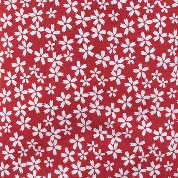 Fabric Freedom - 100% Cotton Cretonne - Nagasaki - Red