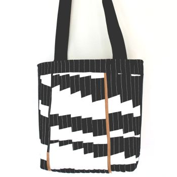 Jazzy Quilted Tote Bag(2)