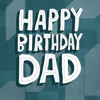 Birthday Card for Dad - HAPPY BIRTHDAY DAD - Birthday GREETING Card FOR Dad - Card FOR DAD - Birthday Cards For HIM