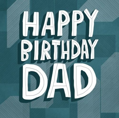 Birthday Card for Dad - HAPPY BIRTHDAY DAD - Birthday GREETING Card FOR Dad