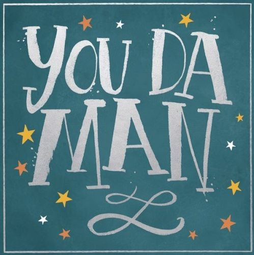 Male Birthday Card - YOU Da MAN - Birthday Cards FOR Men - RETRO Style BIRT