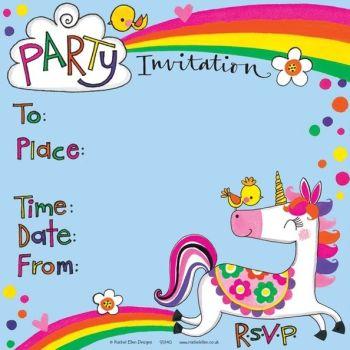 Unicorn Birthday Party Invitation – UNICORN Invite – UNICORN Theme GIRLS Party INVITATIONS - PARTY Invitations