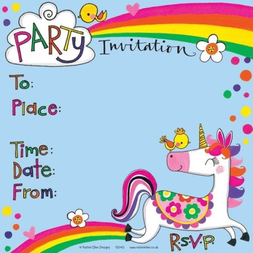Unicorn Birthday Party Invitation – UNICORN Invite – UNICORN Theme GIRLS Pa
