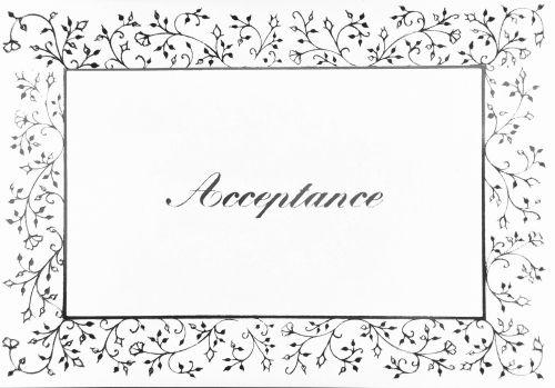 RSVP Acceptance Cards - ACCEPTANCE Cards - SILVER Floral Acceptance CARD -