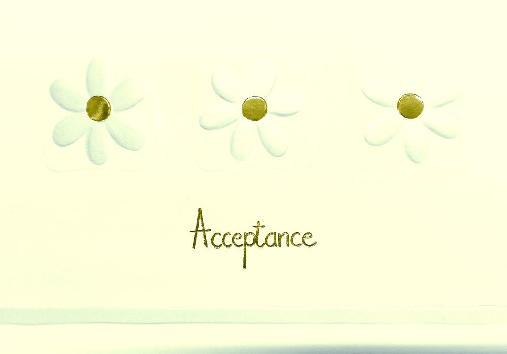 RSVP Acceptance Cards - ACCEPTANCE Cards - PRETTY GOLD Daisy Acceptance CAR