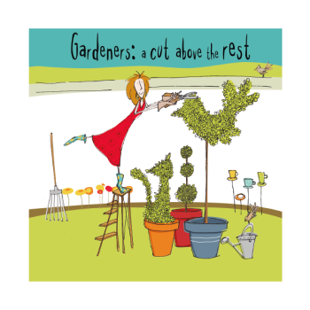 Gardening Birthday Cards - GARDENERS A Cut ABOVE The REST - Funny Birthday Card - HUMOROUS Greeting CARDS - Funny BIRTHDAY Card For FRIEND - NEIGHBOUR