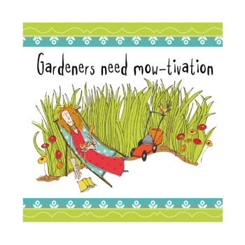 Gardening Birthday Cards - GARDENERS Need MO-TIVATION - Funny Birthday Card - HUMOROUS Greeting CARDS - Funny BIRTHDAY Card For FRIEND - Mum