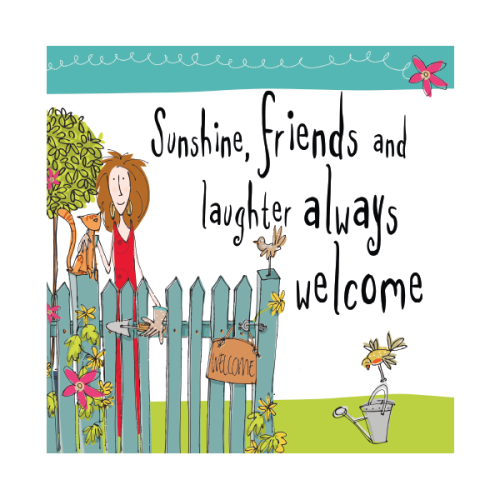 Birthday Card - SUNSHINE Friends & LAUGHTER - Birthday CARD For FRIEND - Sp