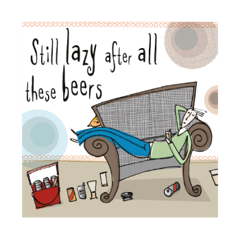 Lazy Male Birthday Card - STILL Lazy AFTER All THESE BEERS - Funny BIRTHDAY Card FOR Male - Birthday CARD For Boyfriend - HUSBAND - Friend - BROTHER