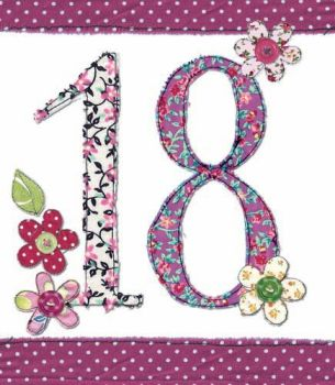 18th Birthday Card Girl - FLORAL Birthday CARD - MILESTONE Birthday - BIRTHDAY Flowers - CARD For DAUGHTER - Granddaughter
