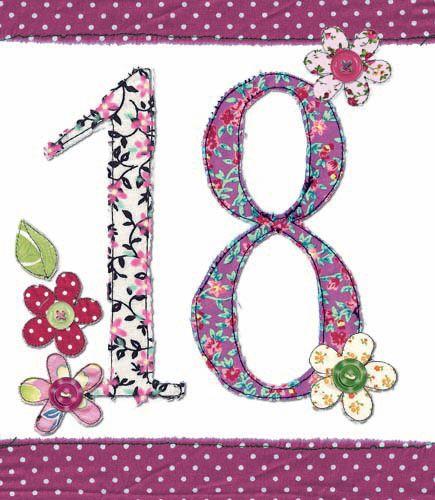 18th Birthday Card Girl - FLORAL Birthday CARD - MILESTONE Birthday - BIRTH