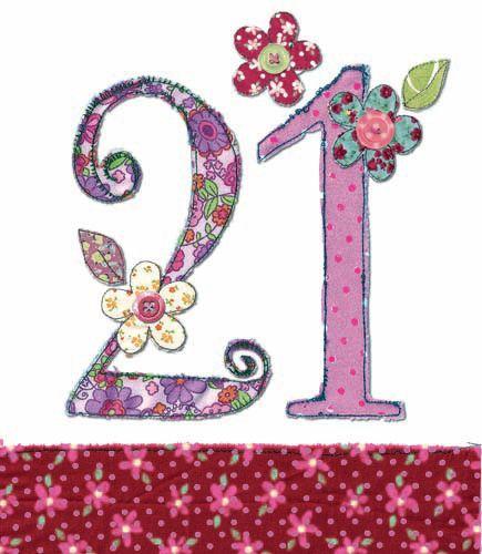 21st Birthday Card Girl - FLORAL Birthday CARD - MILESTONE Birthday - BIRTH