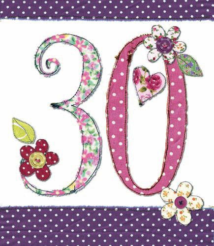 30th Birthday Card Girl - FLORAL Birthday CARD - MILESTONE Birthday - BIRTH