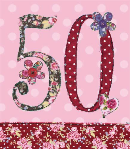 50th Birthday Card Girl - FLORAL Birthday CARD - MILESTONE Birthday - BIRTH