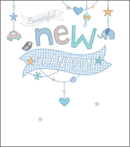 New Grandson Cards - New GRANDSON - CONGRATULATIONS - New BABY Grandson CAR